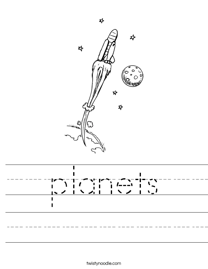 Planets Worksheet Twisty Noodle