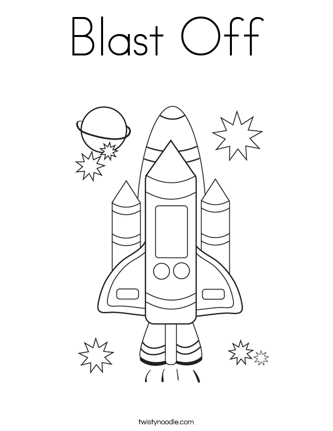 Blast Off Coloring Page