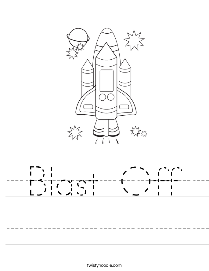Blast Off Worksheet