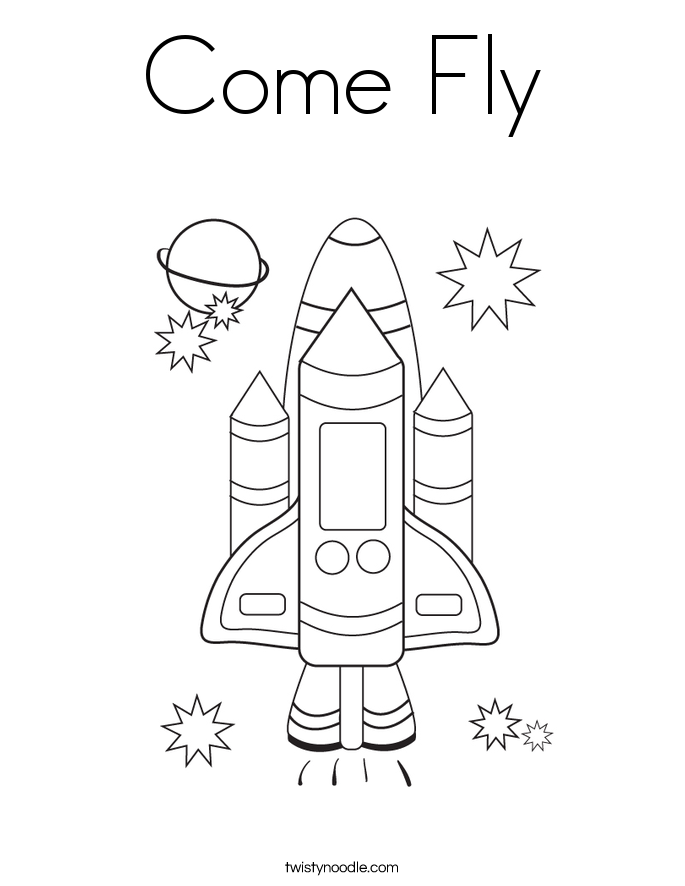 Come Fly Coloring Page