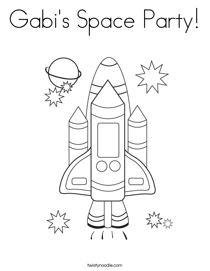 Gabi's Space Party! Coloring Page