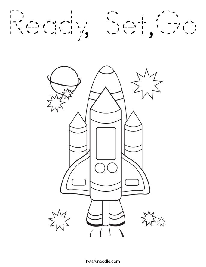 Ready, Set,Go Coloring Page