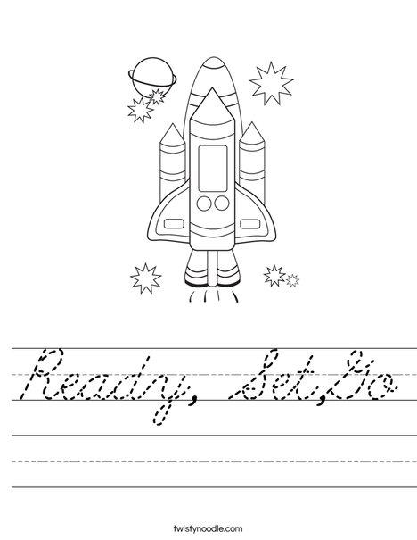 Space Shuttle Worksheet