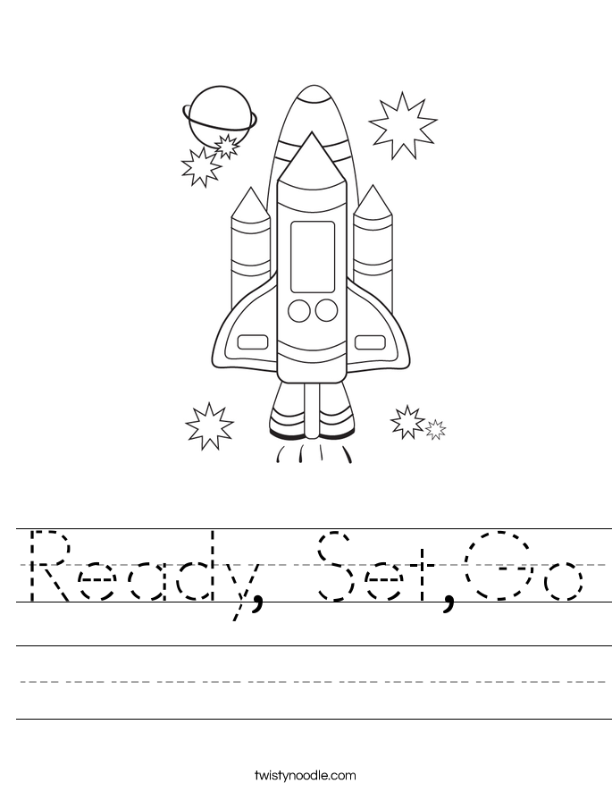 Ready, Set,Go Worksheet