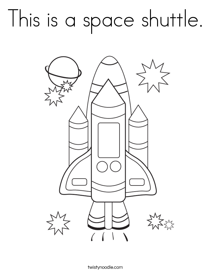 This is a space shuttle. Coloring Page