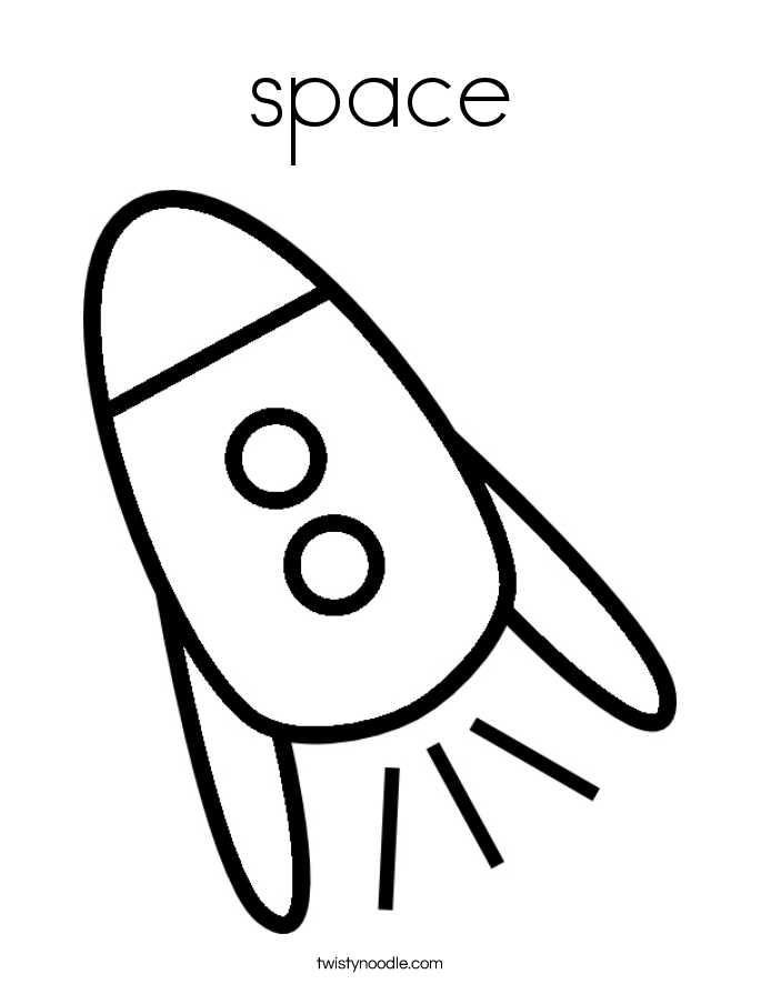 space Coloring Page