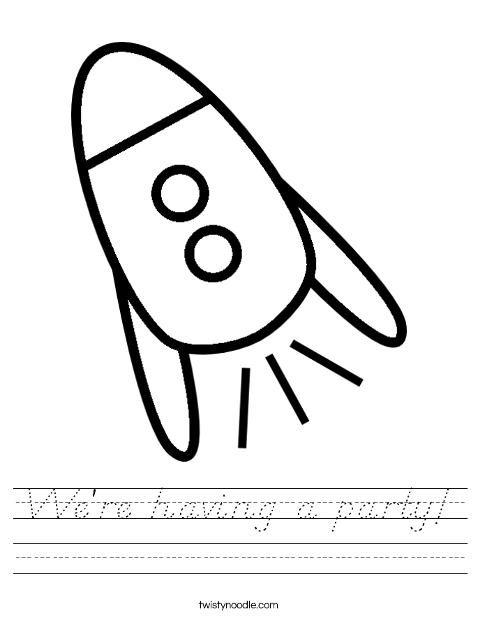 We're having a party! Worksheet