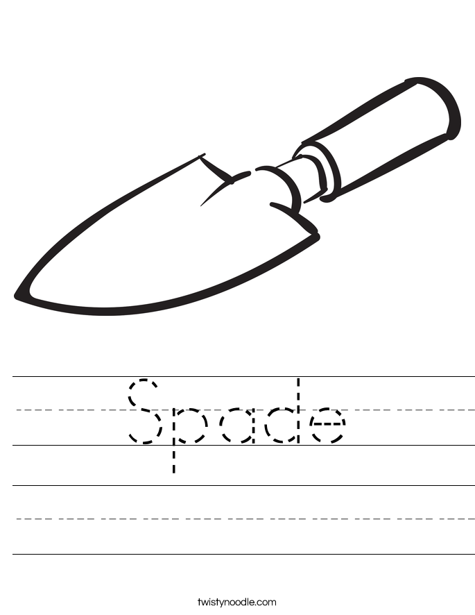 Spade Worksheet