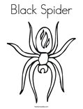 Black Spider Coloring Page