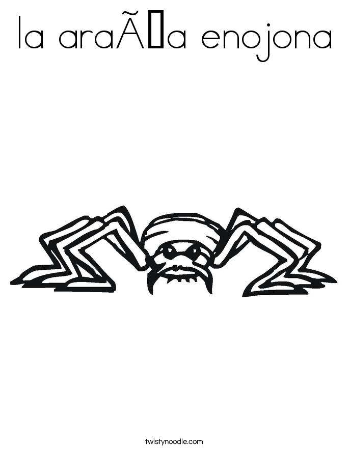 la araña enojona Coloring Page