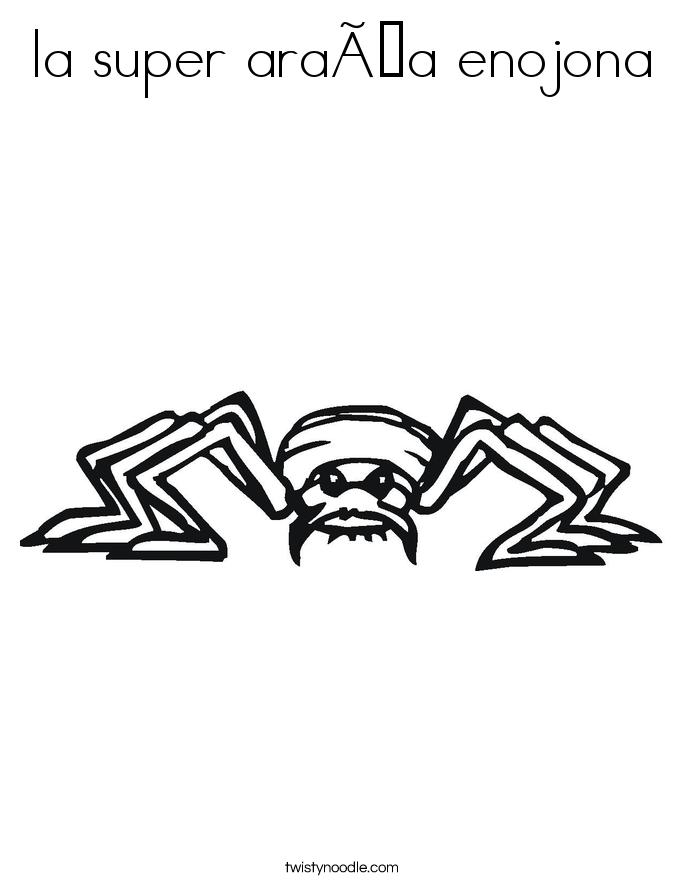 la super araña enojona Coloring Page