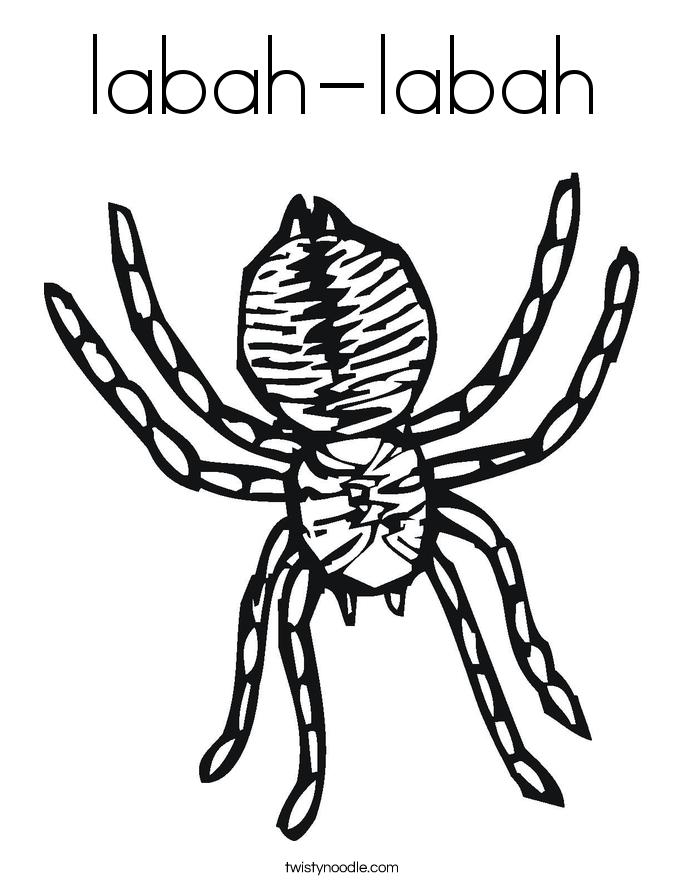 labah-labah Coloring Page