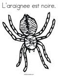 L'araignee est noire.Coloring Page