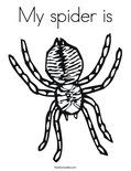 My spider is Coloring Page