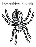 The spider is black.Coloring Page