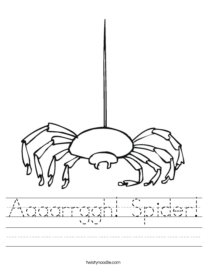 Aaaarrggh! Spider! Worksheet