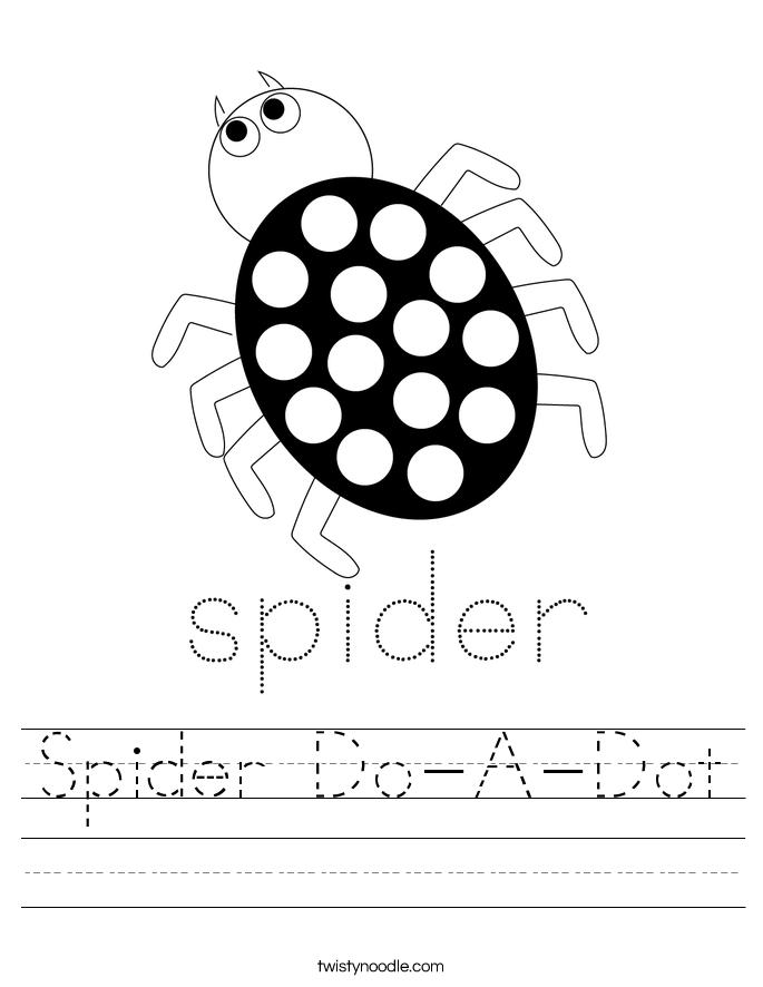 Spider Do-A-Dot Worksheet