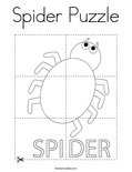 Spider Puzzle Coloring Page