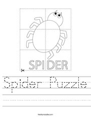 Spider Puzzle Handwriting Sheet