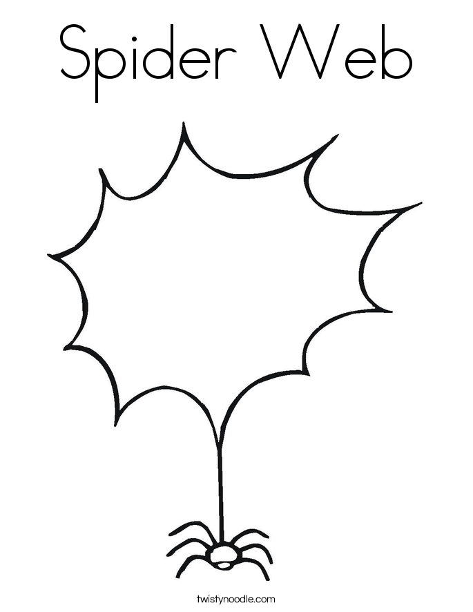 halloween spider web coloring pages - photo#20