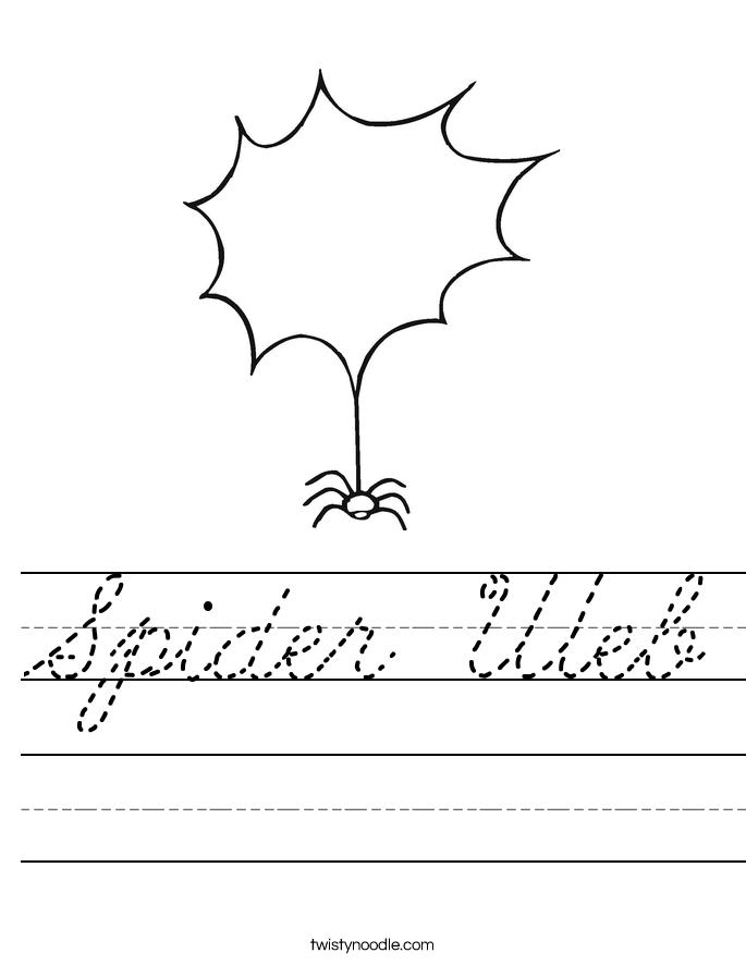 Spider Web Worksheet