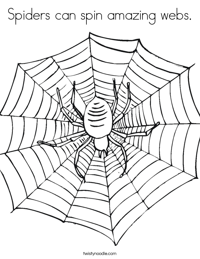 Spiders can spin amazing webs. Coloring Page