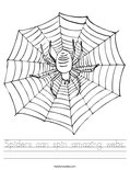 Spiders can spin amazing webs. Worksheet