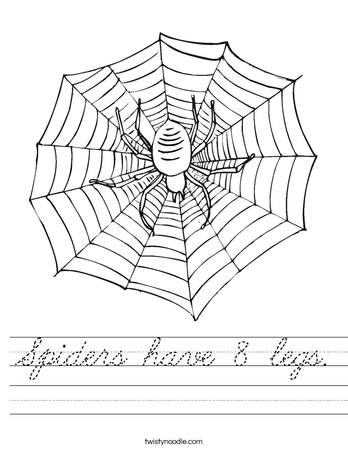 Spiders have 8 legs. Worksheet