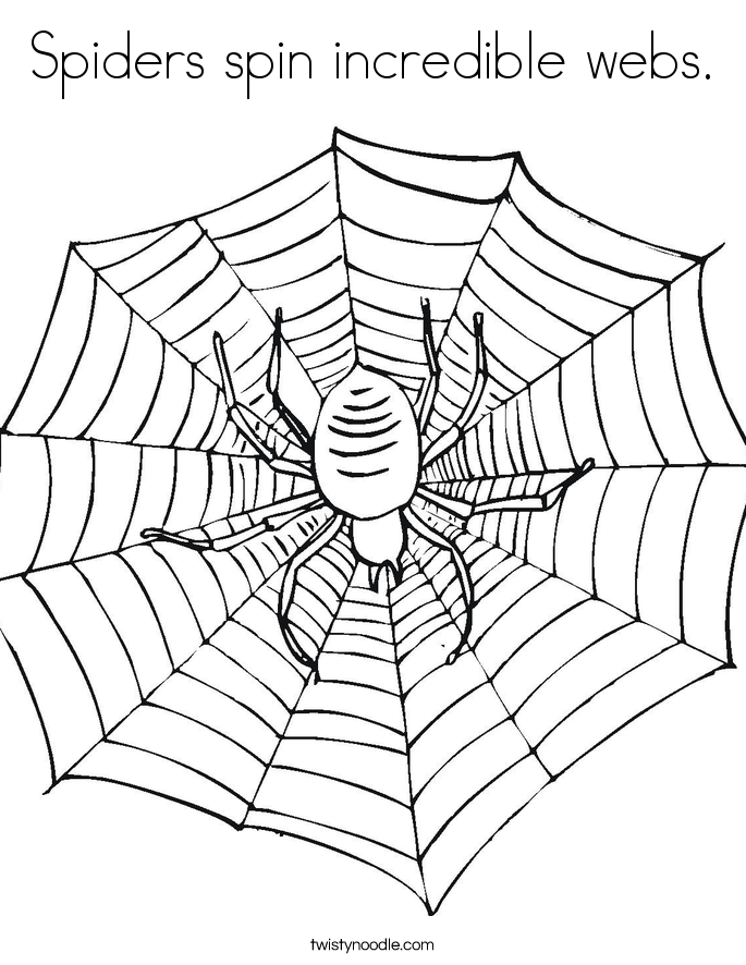 Spiders spin incredible webs. Coloring Page