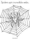 Spiders spin incredible webs.Coloring Page