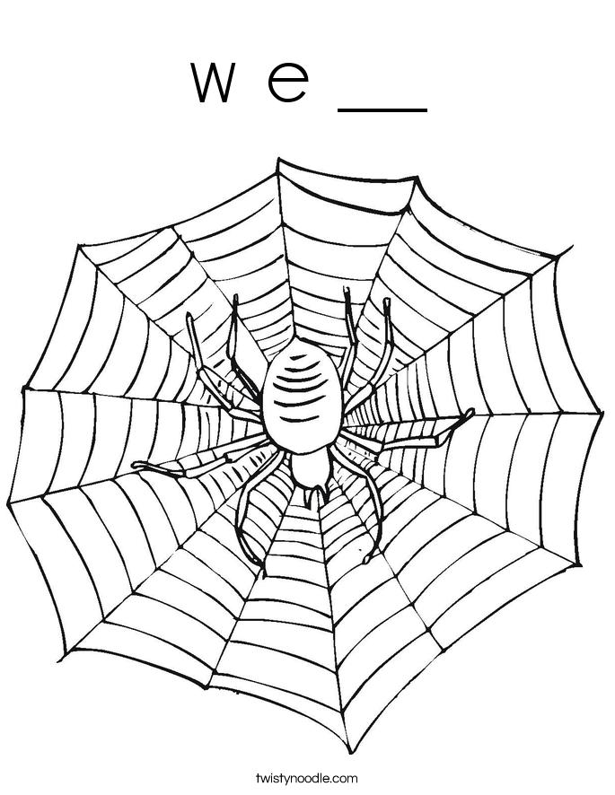 w e __ Coloring Page