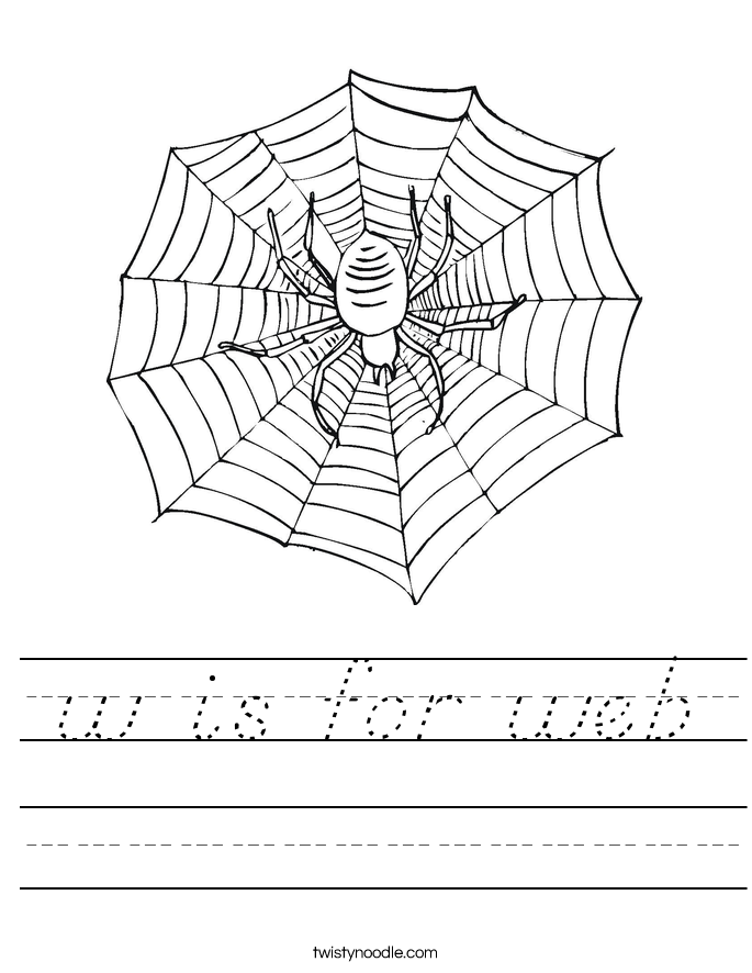 w is for web Worksheet