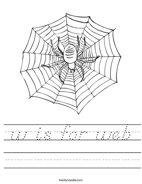 Spider with Web Worksheet