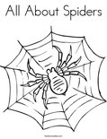 All About Spiders Coloring Page