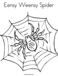 Eensy Weensy Spider Coloring Page
