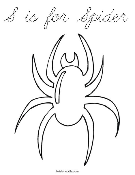 Blank Spider Coloring Page
