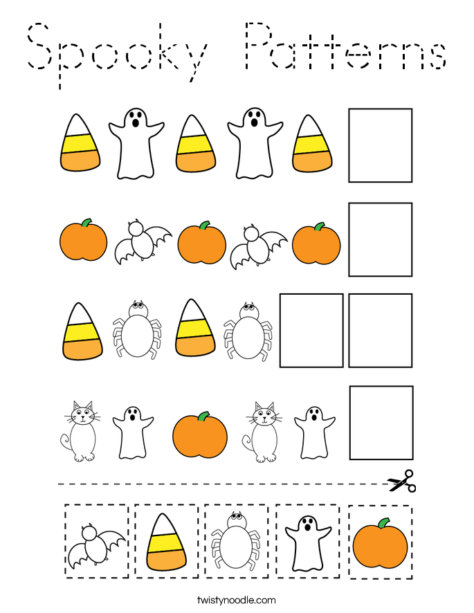 Spooky Patterns Coloring Page
