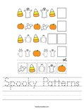 Spooky Patterns Worksheet