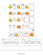 Spooky Patterns Handwriting Sheet