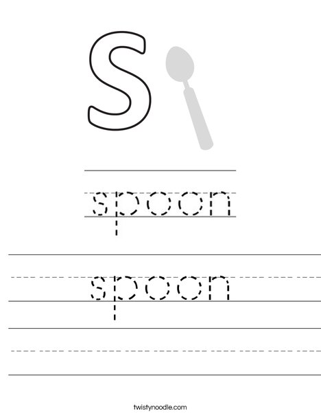 Spoon Worksheet