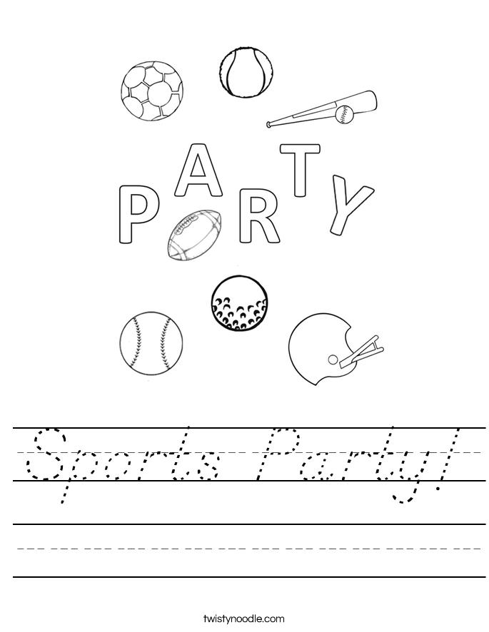Sports Party! Worksheet