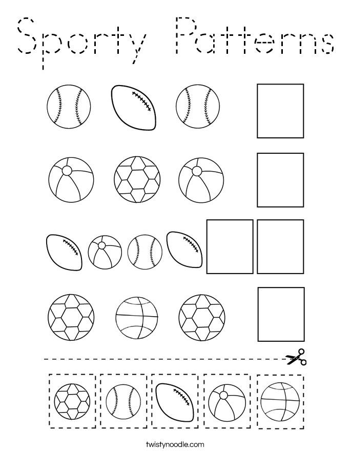 Sporty Patterns Coloring Page
