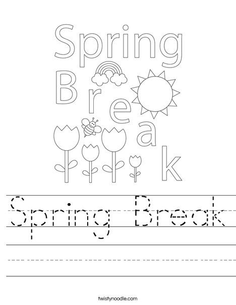 Spring Break Worksheet