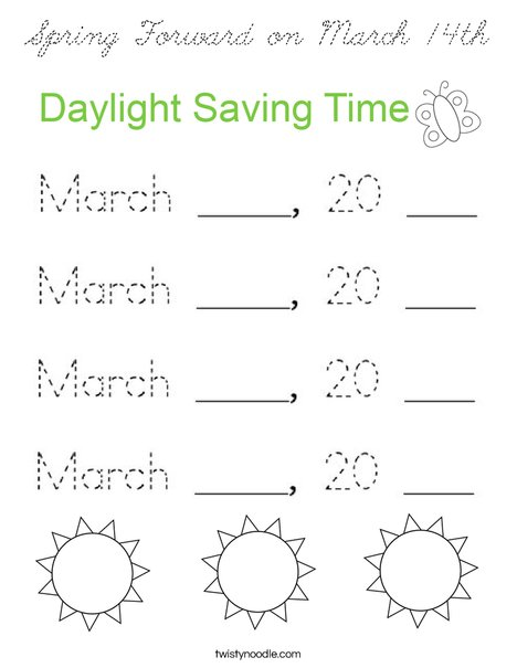 Spring Forward... Coloring Page