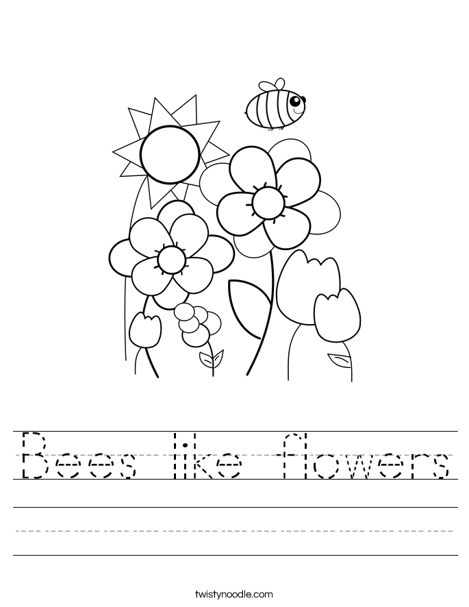 Bees like flowers Worksheet