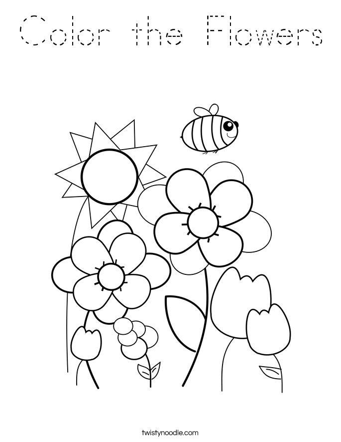 Color the Flowers Coloring Page