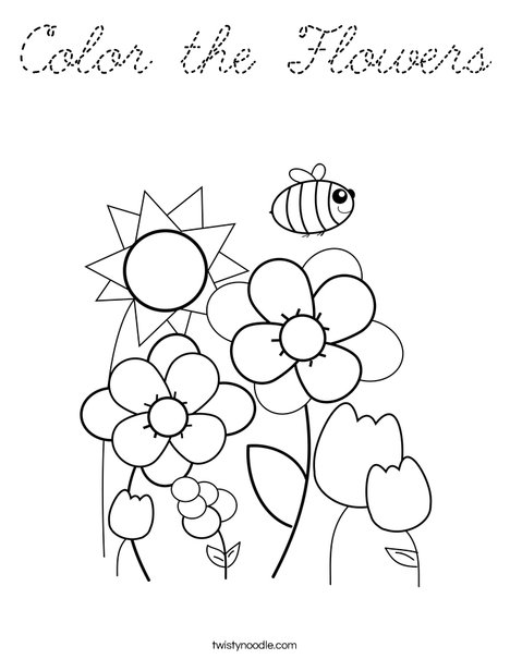 Spring Garden Coloring Page