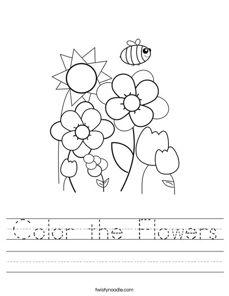 Spring Garden Worksheet