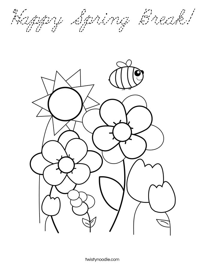 spring break coloring pages - photo#23