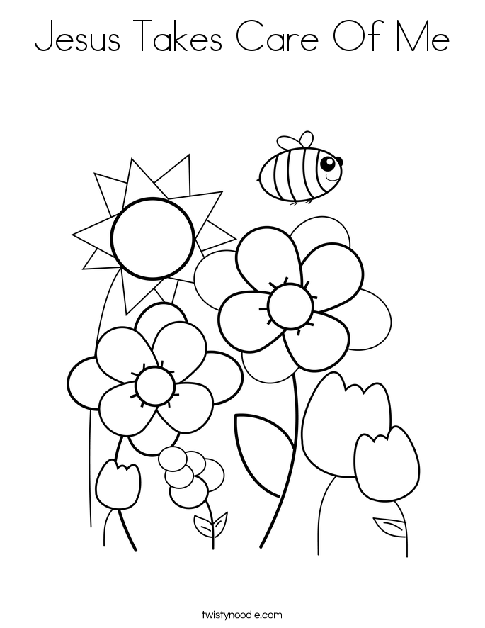 M/god Cares For Us Coloring Page Coloring Pages